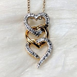 Jewelry - 925 Stamped Heart Necklace